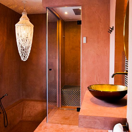 Glazen stoom en welness cabine Cleopatra - bij Dicks Haarlem