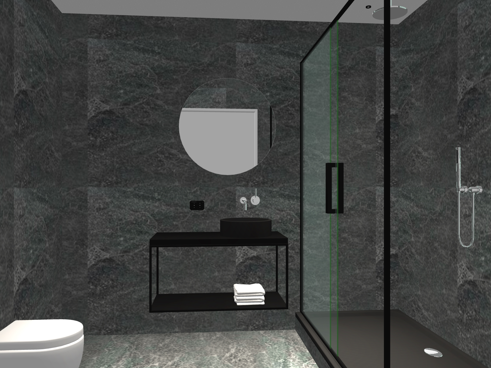 3d ontwerp badkamer bij Dicks badkamer in Haarlem